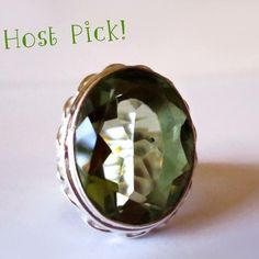 .925 Sterling Silver Green Quartz Ring Gorgeous Green Quartz Sterling Silver Ring with .925 stamped on the inside. NEW without tags. Jewelry Rings