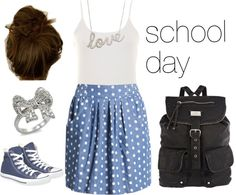"""""""Cute outfit for school"""" by kyliechase on Polyvore"""