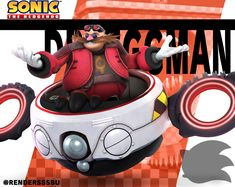"""At long last, he's come to make an announcement! Here's Doctor Eggman from the Sonic the Hedgehog series! Sonic Birthday, Happy 30th Birthday, The Sonic, Sonic Boom, Hedgehog Movie, Sonic The Hedgehog, Guinea Pig Toys, Guinea Pigs, Doctor Eggman"