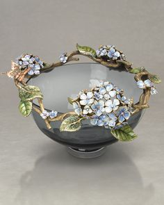 Hydrangea bowl from Jay Strongwater