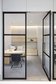 glass divider partition ideas modern design offices pinterest
