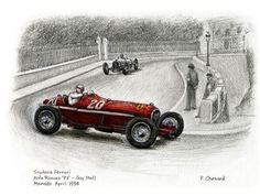Guy Moll on his way to winning the 1934 Monaco Grand Prix driving an Alfa Romeo Tipo.