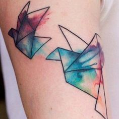 Watercolor tattoo. Omg I want one now