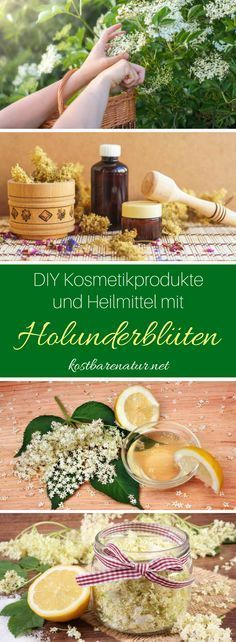 How to make natural cosmetics with elderflower yourself .- So stellst du Naturkosmetik mit Holunderblüten einfach selbst her It& so easy to make care and cosmetic products like deodorant, hand lotion and more with elderflower! Diy Nature, Vegan Deodorant, Natural Beauty Remedies, Hand Care, Elderflower, Hand Lotion, Natural Cosmetics, Organic Beauty, Organic Makeup