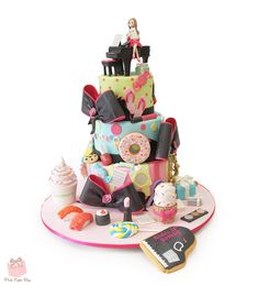 """Favorite Things"" Birthday Cake by Pink Cake Box"