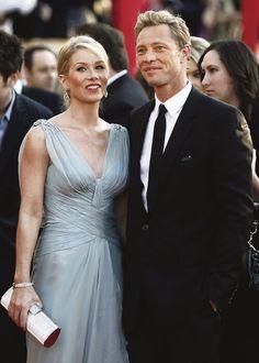 Christina Applegate and husband Martyn LeNoble...