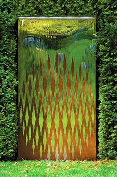 Outdoor water wall eclectic outdoor fountains