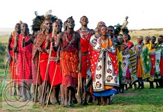 Chanting Masai Warriors and Women