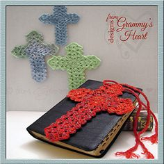 FREE crochet pattern for a Beauty For Ashes Bookmark by Designs from Grammy's Heart, with Love. Crochet Bookmark Pattern, Easter Crochet Patterns, Crochet Bookmarks, Crochet Cross, Thread Crochet, Crochet Motif, Crochet Yarn, Free Crochet, Knitting Patterns