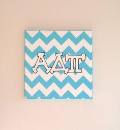 hand painted Alpha Delta Pi letters outline by PreppyInPinkUSA, $22.00