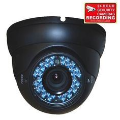 "VideoSecu Outdoor Day Night Vision Infrared CCTV Built-in Sony CCD Zoom Security Camera Weatherproof 540TVL 36 IR Leds 4-9mm Varifocal Lens Home Surveillance 1LE by VideoSecu. $67.99. This VideoSecu Infrared vandal armor manual pan/tilt dome camera, with external adjustable vari-focal lens 4-9mm, 1/3"" Sony Super HAD sensor, and 540 lines of resolution. The tri-axis enclosure design allows you to change the direction that the camera is facing without taking it apart. The le..."