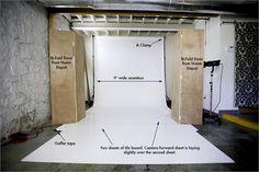 White seamless tutorial for photo studio