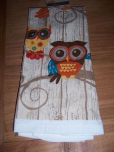 OWL FAMILY COTTON KITCHEN TOWEL *NWT*- CUTE