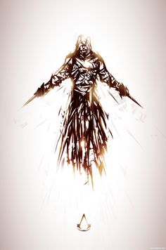 Assassin's Creed, Art by Justin Currie @ chasingartwork. Tatouage Assassins Creed, Assassins Creed Tattoo, Assassins Creed Game, Justin Currie, Deutsche Girls, Assasins Cred, Xbox, Playstation, Connor Kenway