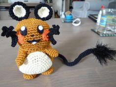 Dedenne - Pokemon Character - Free Amigurumi Pattern here: http://crochetnanigans.wordpress.com/2013/09/01/new-pattern-dedenne/