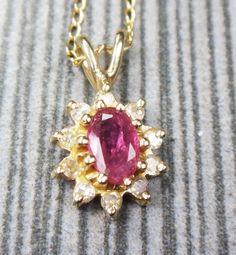 Vintage Diamond and Ruby Necklace Vintage by BelmarJewelers