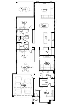 Evanston Vale - Dechellis Homes Courtyard House, House Plans, Floor Plans, House Design, How To Plan, Contemporary, Homes, Home Decor, Houses