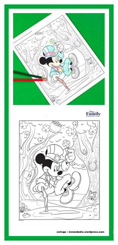 Mickey has hidden some St. Find them all and then color the picture in your favorite shade of green . or pink, or red, or blue! Saint Patrick, St Pattys, St Patricks Day, Disney Family, Shades Of Green, Coloring Pages, Mickey Mouse, Creations, Activities