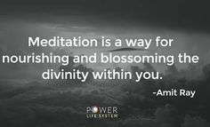 Meditation is the tongue of the soul and the language of our spirit. -Jeremy Taylor
