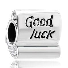 Pugster Good Luck Scroll - 925 Sterling Silver Charms Bead Pugster Chamilia Etc Bracelets Fits Charm Bracelet Pandora Bracelet Charms, Cheap Jewelry, Jewelry Ideas, Lucky Charm, Sterling Silver Jewelry, Jewelry Design, Charmed, Silver Charms, Beads
