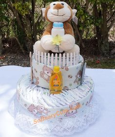 Baby Boy Diaper Cake by calidelights on Etsy Diaper Cake Boy, Cake Baby, Unique Diaper Cakes, New Baby Products, Handmade Gifts, Baby Boy, Birthday Cake, Etsy, Diapers