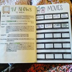 Loving this #bulletjournal spread! We just got rid of our cable and have Netflix so my TV show side is almost already filled #bulletjournaljunkies #bulletjournallists