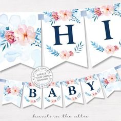 free printable floral alphabet bunting from swooned has all letters awesome printables. Black Bedroom Furniture Sets. Home Design Ideas