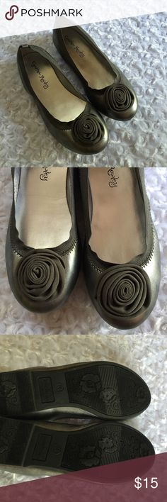 cynthia • rowley • silver • flats Soft and flexible silver flats. Rubber sole. Cynthia Rowley Shoes