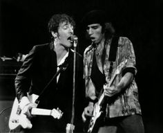 Bruce Springsteen with Steven Van Zandt at Madison Square Garden, August 1978