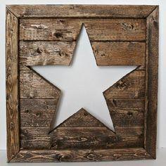 10 DIY Rustic Home Decor Ideas | Create a cut out star tutorial thehappierhomemaker.com