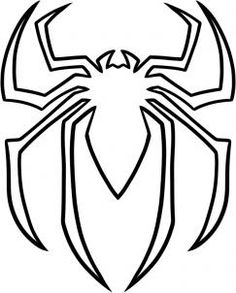 spiderman face spiderman coloring pages free printable ideas rh pinterest com spiderman logo printable in spiderman logo 3d printable
