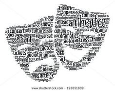 Theatre Concept - Comedy and Drama Masks Word Cloud - stock vector