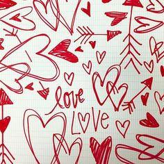 Love. Love. Love. #doodle #valentines #heart #patterns
