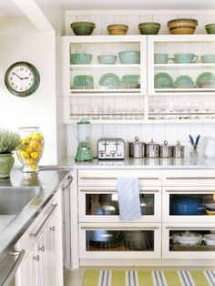 Use Glass-front Cabinets