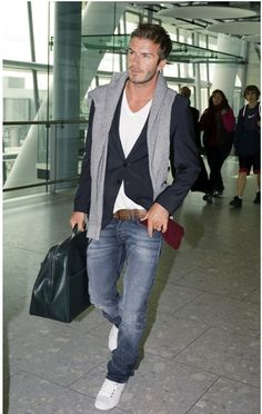 Are distressed jeans back in? Guess if David beckham says yes...