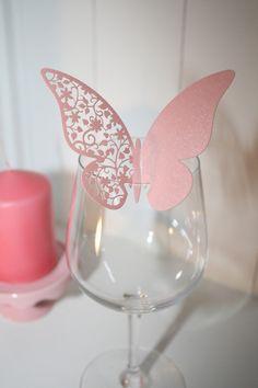 Glaskärtchen 2 Designs,wähle aus 6 Farben,15 Stück von Pompompös auf DaWanda.com