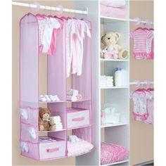 Delta   24 Piece Nursery Closet Organizer, Barely Pink