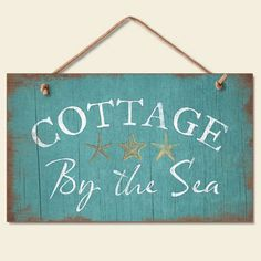 Cottage by The Sea Wood Sign New Beach Coastal Seaside Decor | eBay