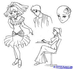 how to draw skirt ruffles