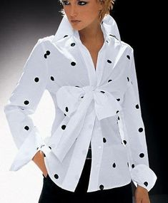 36 Trendy Moda Outfits Chic Polka Dots Source by lilaszczupak Outfits chic White Fashion, Look Fashion, Fashion 2018, Fashion Design, Fashion Trends, Boyfriend Girlfriend Shirts, One Direction Shirts, Cut Up Shirts, Diy Mode