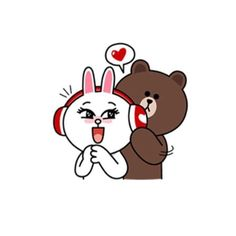 The song is so sweet my sweety brown 🐻 Cute Couple Cartoon, Cute Love Cartoons, Cute Couple Art, Cute Couples, Cute Love Pictures, Cute Love Gif, Cony Brown, Brown Bear, Line Cony