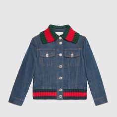 Gucci+Children's+denim+jacket+with+Web