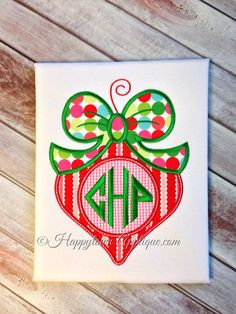 Ornament Machine Embroidery Design by HappytownApplique on Etsy, $4.00