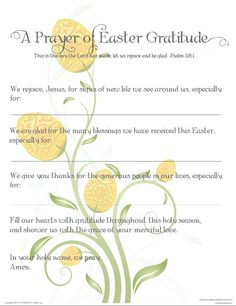 Prayer-Easter