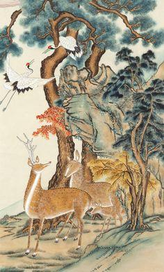 Korean Painting, Chinese Painting, Chinese Art, Japanese Watercolor, Watercolor And Ink, Korean Art, Asian Art, Chinese Culture, Woodblock Print