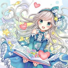 Serenity smiles brightly as she reads the magic books she got from the academy Kawaii Anime Girl, Anime Girls, Manga Kawaii, Anime Child, Anime Girl Cute, I Love Anime, Anime Art Girl, Manga Girl, Manga Anime