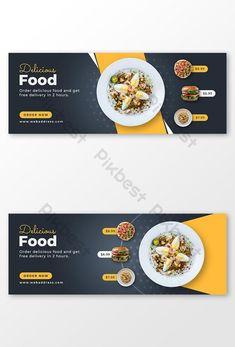 Food Graphic Design, Food Menu Design, Food Poster Design, Restaurant Menu Design, Restaurant Recipes, Banner Design Inspiration, Web Banner Design, Web Design Examples, Facebook Cover Design