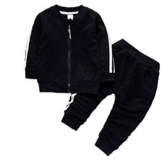 869b1b392 Awesome 2017 Fashion Spring Autumn Baby Boys Girls Cotton Full-sleeved  Jacket+pants 2pcs