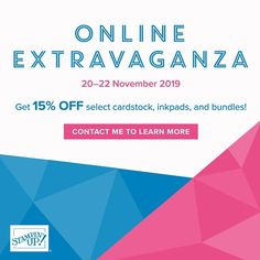 The online extravaganza starts today and runs through til Friday! Receive off select card stock ink pads & bundles! If you live in Australia shop with me! Early Black Friday, Fun Crafts, Paper Crafts, 22 November, Card Maker, Ink Pads, Make Design, Thank You Gifts, Diy Cards