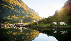 Undredal fjord village covered in autumn sunshine! 🍂😍 Tours including goat cheese tasting in this charming village is available until the end of september. Closer To Nature, Lofoten, Finland, Norway, Sunshine, Tours, Activities, Adventure, Cheese Tasting